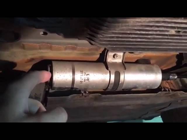 Где находиться топливный фильтр на БМВ Х3 е83