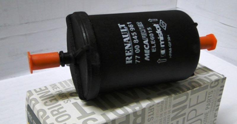 Где стоит топливный фильтр на Рено Логан 1.6 2011 года