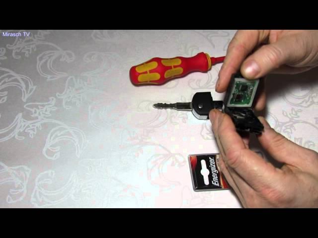 Как заменить батарейку в ключе от мазды 3