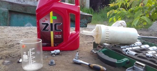 Как заменить масло в коробке передач на Лада Калина