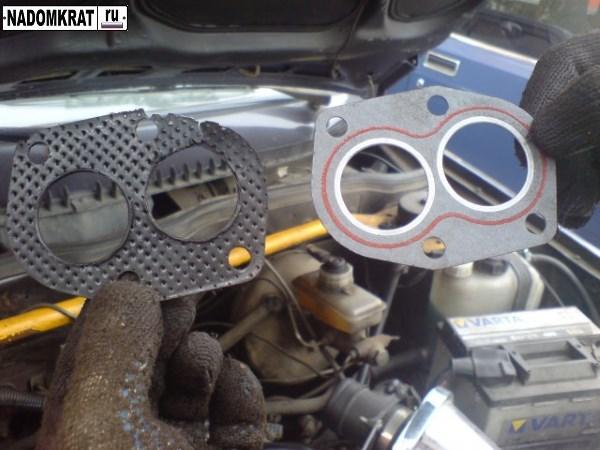 Как заменить прокладку выпускного коллектора на УАЗ Патриот