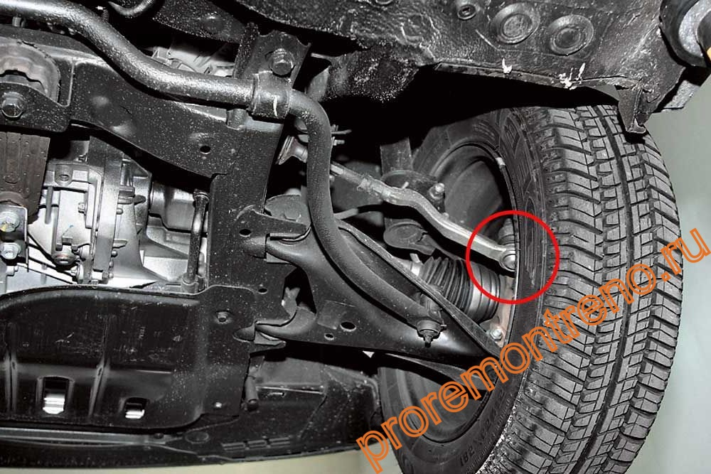 Как заменить рулевые наконечники на Рено Меган 2