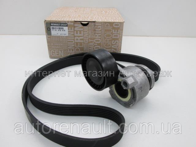 Комплект ремня генератора Рено Дастер 1.6 с кондиционером