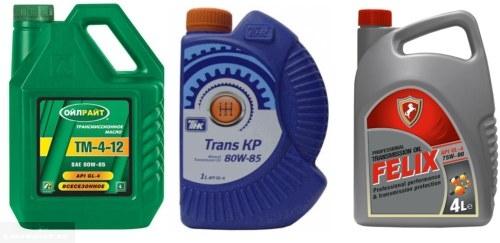Лада Калина масло в коробке передач с завода