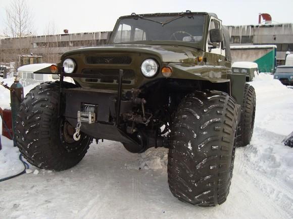 УАЗ Патриот на шинах низкого давления м-трим от компании галагрин