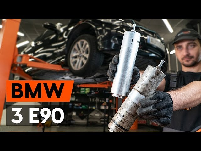 Видео замены топливного фильтра на БМВ Х3 дизель