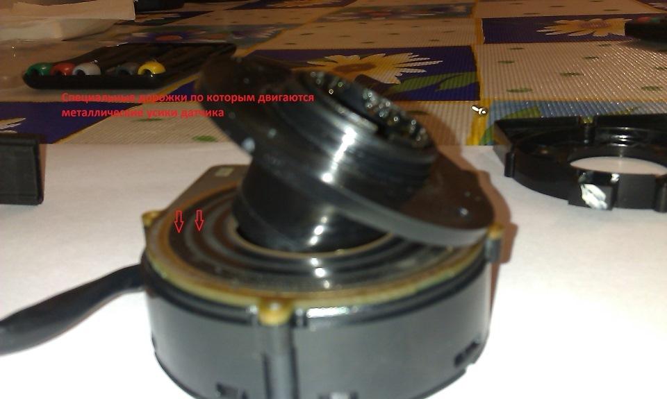 Замена датчика угла поворота рулевого колеса БМВ е53