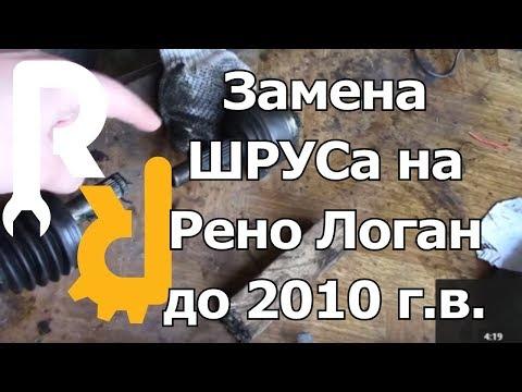 Замена левого наружного пыльника шруса Рено Логан видео