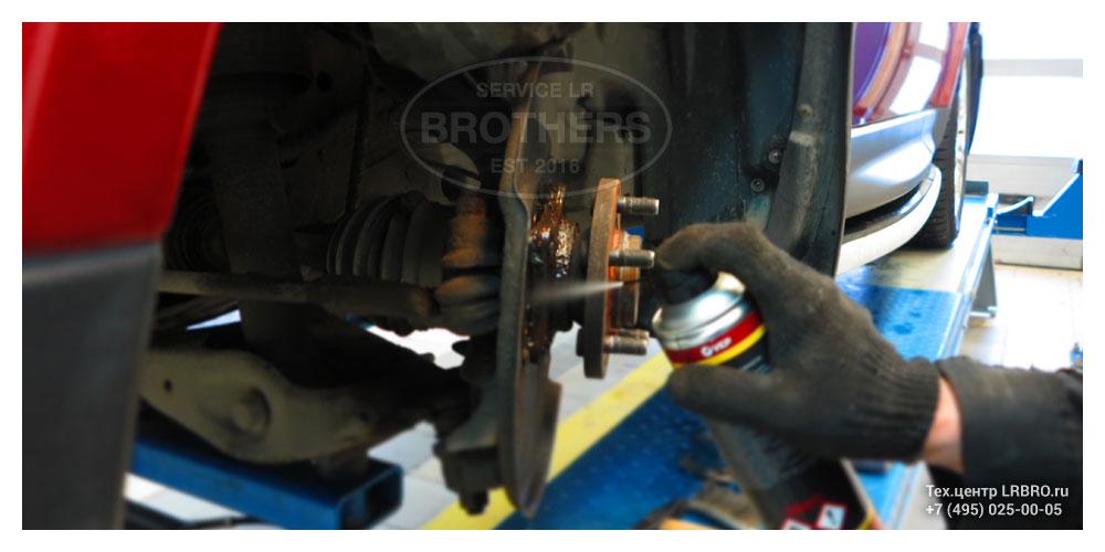 Замена переднего подшипника ступицы на Ленд Ровер 2
