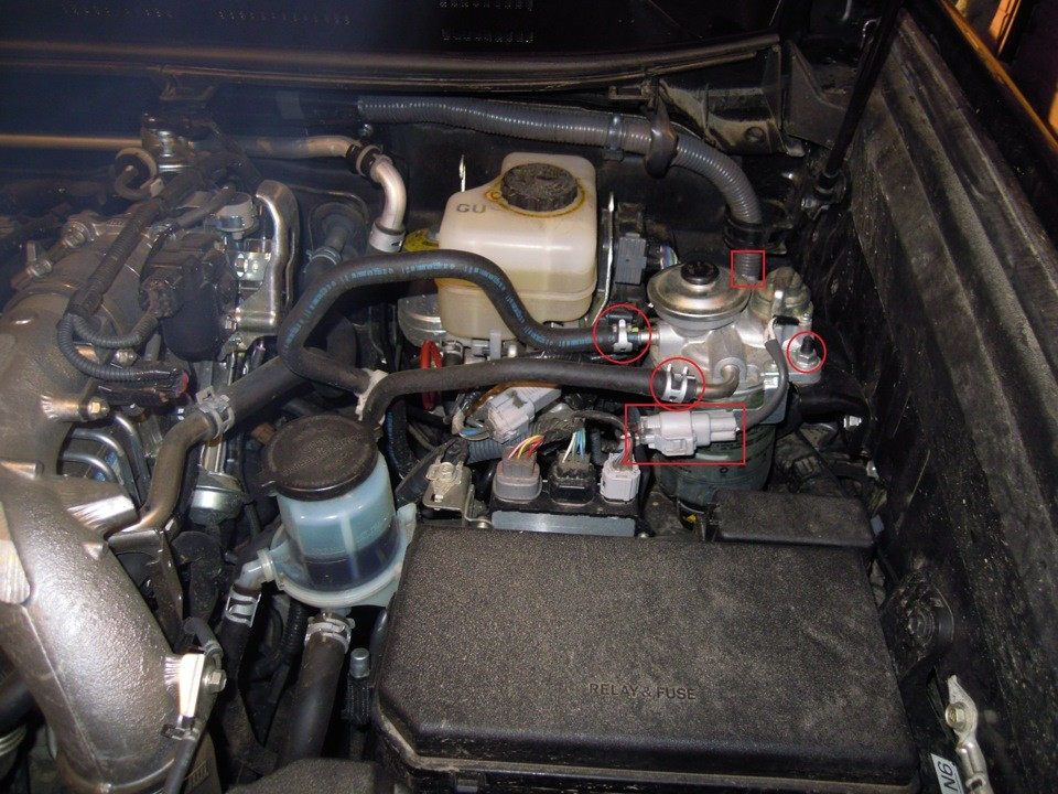 Замена топливного фильтра Тойота Ленд Крузер 200 дизель