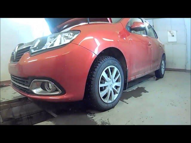 Замена усилителя переднего бампера на Рено Логан видео