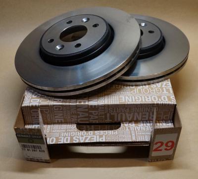 Замена задних тормозных дисков на Рено Сценик 2