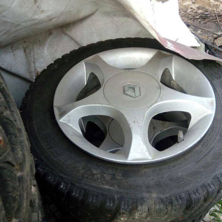 Заводские литые диски на Рено Логан 15 радиус